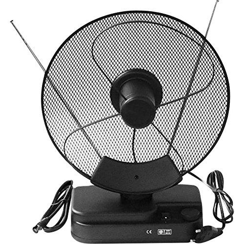 Smart F22 Actieve DVB-T/T2-telescopische antenne, binnenbereik, versterking: 36 dB, zwart.
