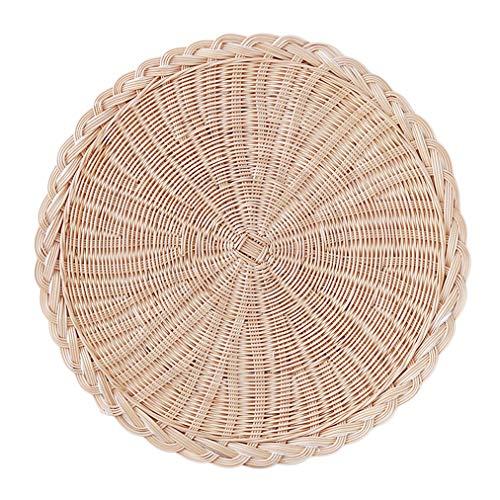 Sevenfly Assiette de Protection Isolante de la Chaleur de Tasse de Plateau de sous-Plats tissés Faits Main de Plat de Tapis de Protection, 20 cm
