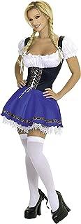 PINSE Halloween Wench Oktoberfest Swedish German Beer Girl Sexy Drindl Dress