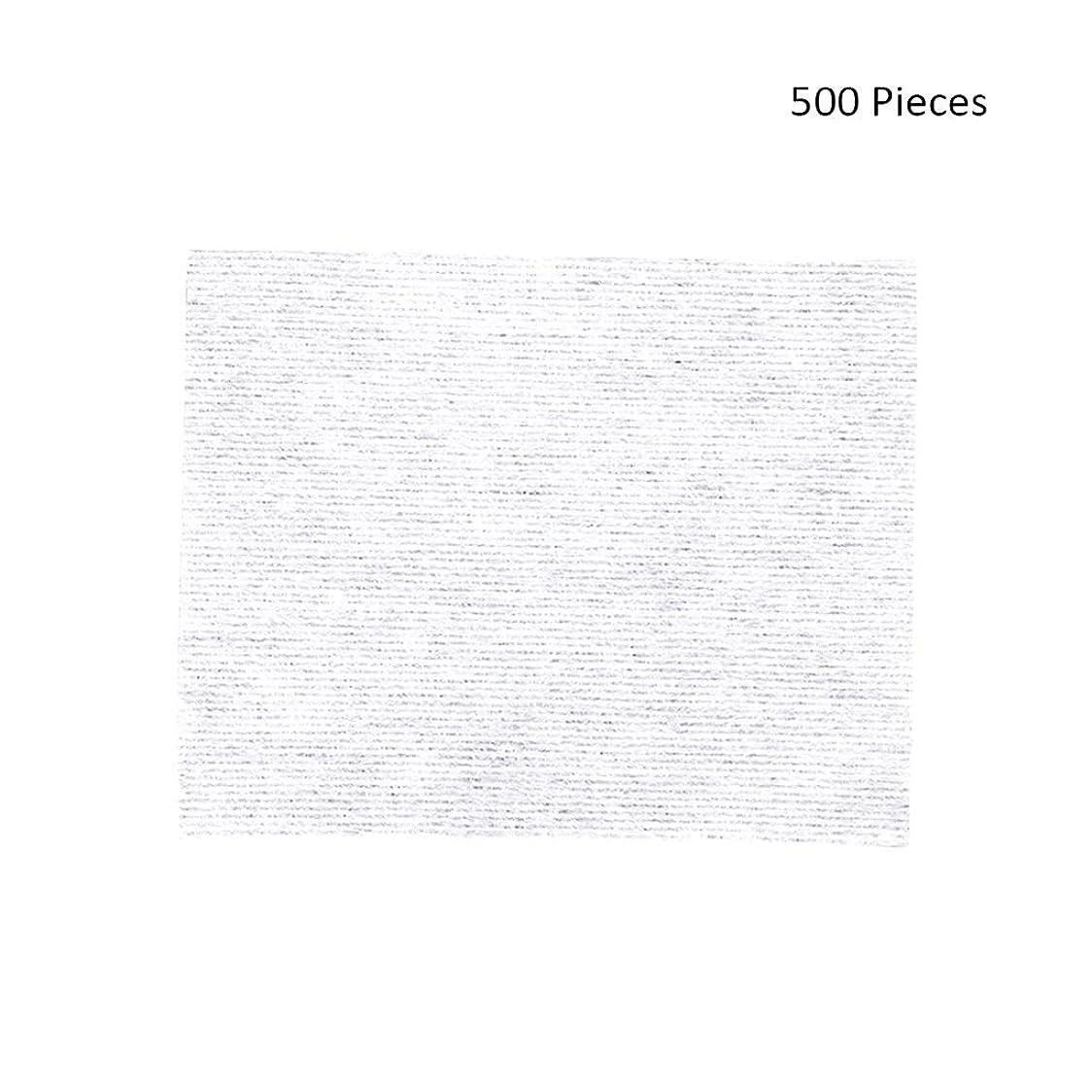 羊のダッシュチャンピオンシップ500ピースフェイスメイクアップリムーバーワイプコットンパッドメイクアップリムーバーソフト化粧品フェイスマスククレンジングケアフェイシャルコットンパッド (Color : White, サイズ : 6*5cm)