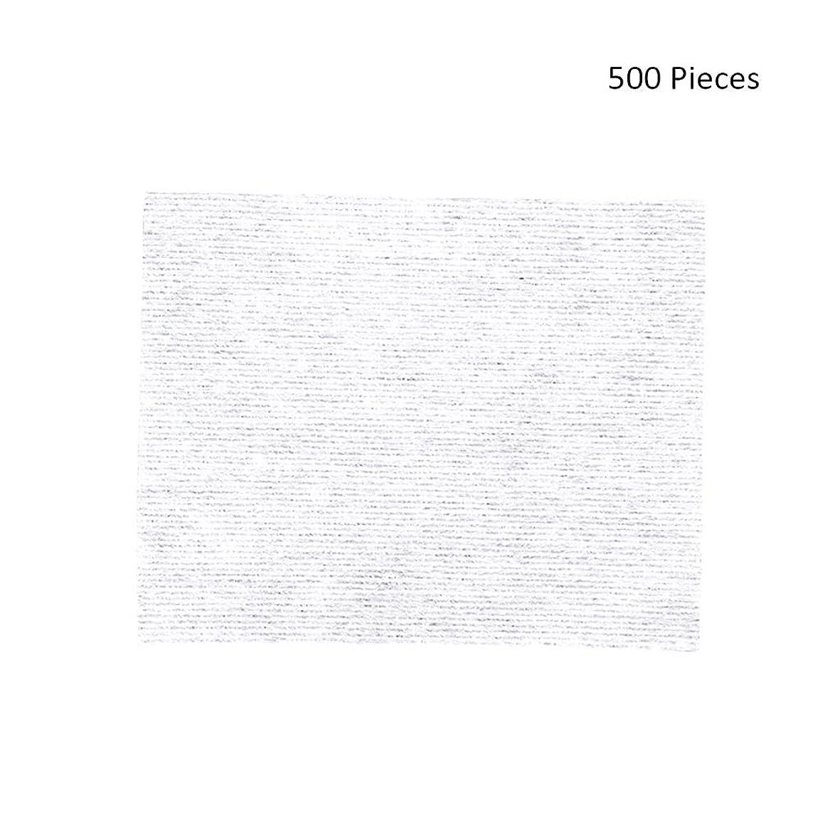順番大洪水十分500ピースフェイスメイクアップリムーバーワイプコットンパッドメイクアップリムーバーソフト化粧品フェイスマスククレンジングケアフェイシャルコットンパッド (Color : White, サイズ : 6*5cm)