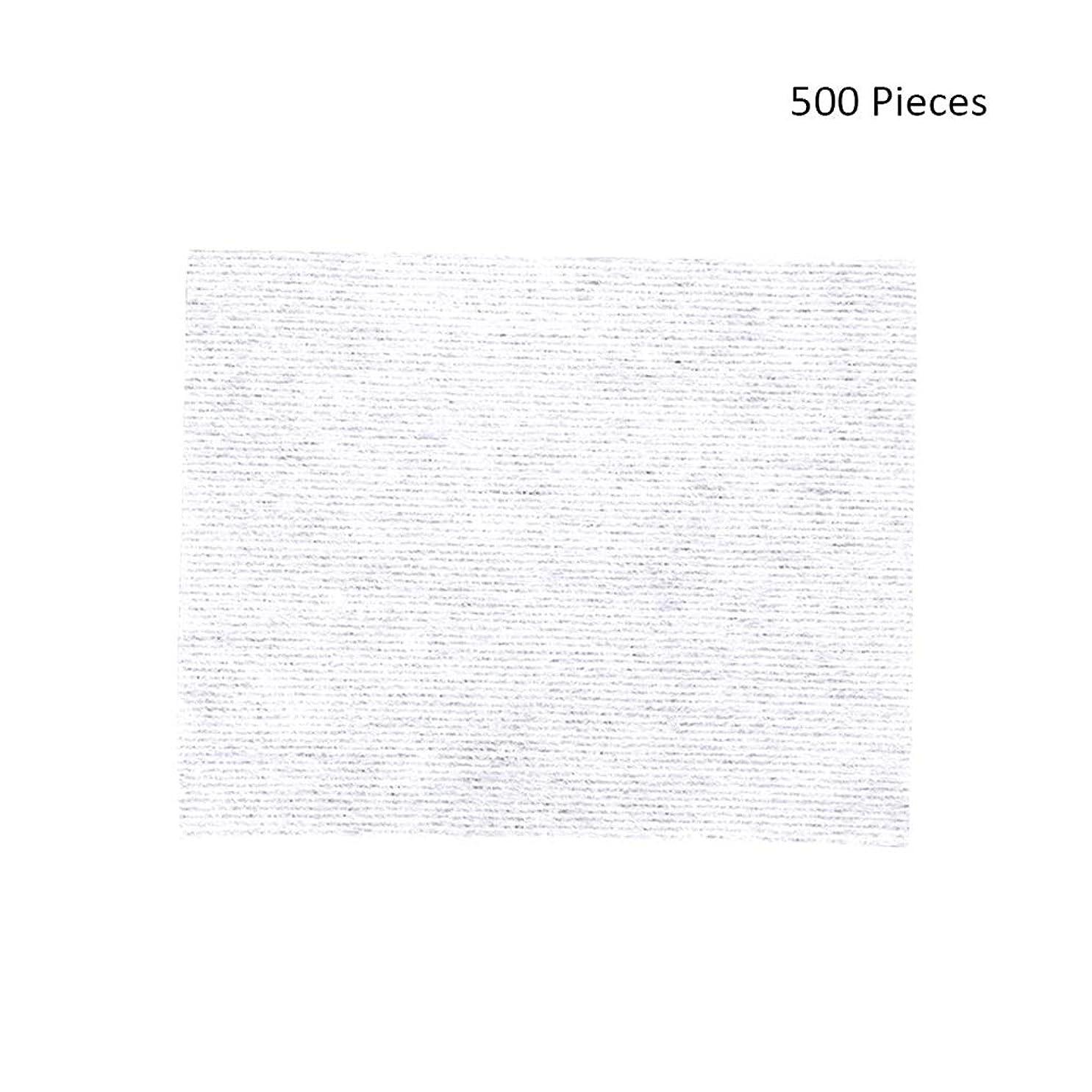 再編成するに話す電気の500ピースフェイスメイクアップリムーバーワイプコットンパッドメイクアップリムーバーソフト化粧品フェイスマスククレンジングケアフェイシャルコットンパッド (Color : White, サイズ : 6*5cm)