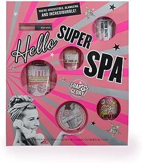 Soap and Glory Hello Super Spa Set: Rgihteous Butter Body, Creamy Body Wash, Sugar Crush Fresh & Foamy Body Wash, The Scrub of Your Life Body Buffer, Face Soap & Clarity Facial Wash