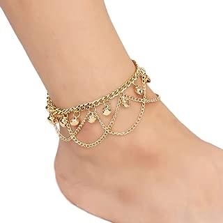 Xuanhemen Gold Tassel Chain Anklet Bracelet Elegant Women Bell Anklets Chain Girl Beach Bracelets Foot Jewelry