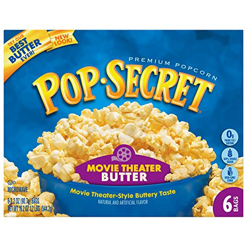 Great Features Of Pop Secret Popcorn, Movie Theater Butter, 3.2 Ounce Microwave Bags, 6 Count Box