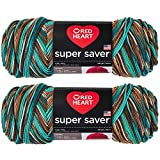 Bulk Buy: Red Heart Super Saver (2-Pack) (Reef, 5 oz Each Skein)