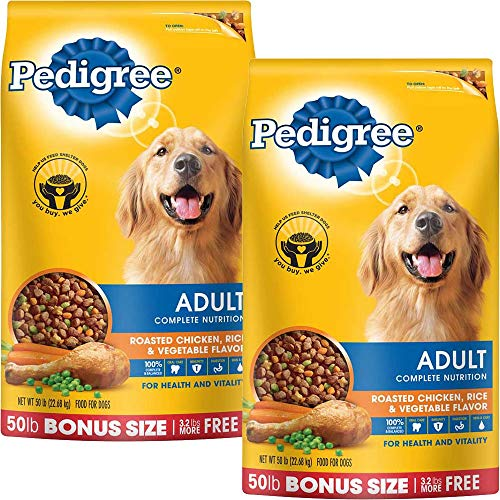 PEDIGREE Complete Nutrition Adult Dry Dog Food Bonus Bags Chicken 50 lbs Pack of 2