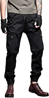 Port&lotus Workwear Cargo Pants for Men Elastic Waist Ranger Trousers