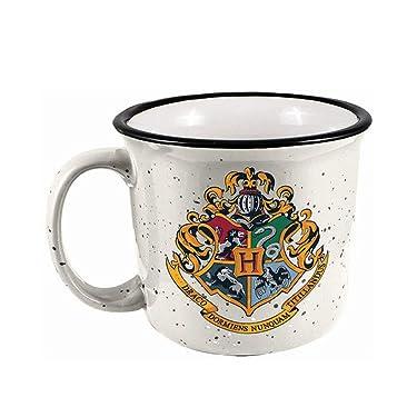 Spoontiques Hogwarts Crest Camper Mug, 14 ounces, White