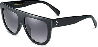 Women's Oversized Flat Top Fashion Sunglasses Trendy Big Square Designer Retro Shades