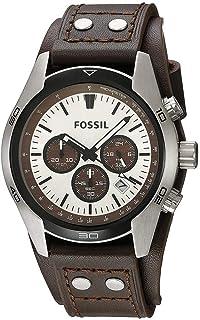 Fossil Men's Coachman 45mm Brown Leather Band Steel Case Quartz Watch CH2565