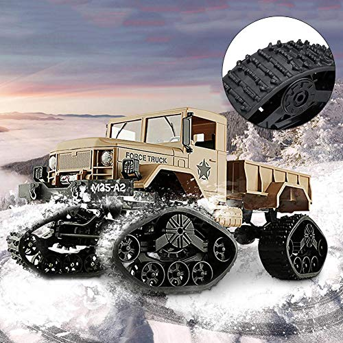 Longshow Track Wheels for RC Car - 4PCS Snow Tires WPL Naughty Dragon 4WD Replacement Caterpillar Band Track Remote Control Caterpillar Band