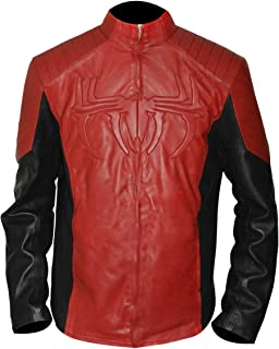 Mens Red & Black Jacket with Spider Logo for Man