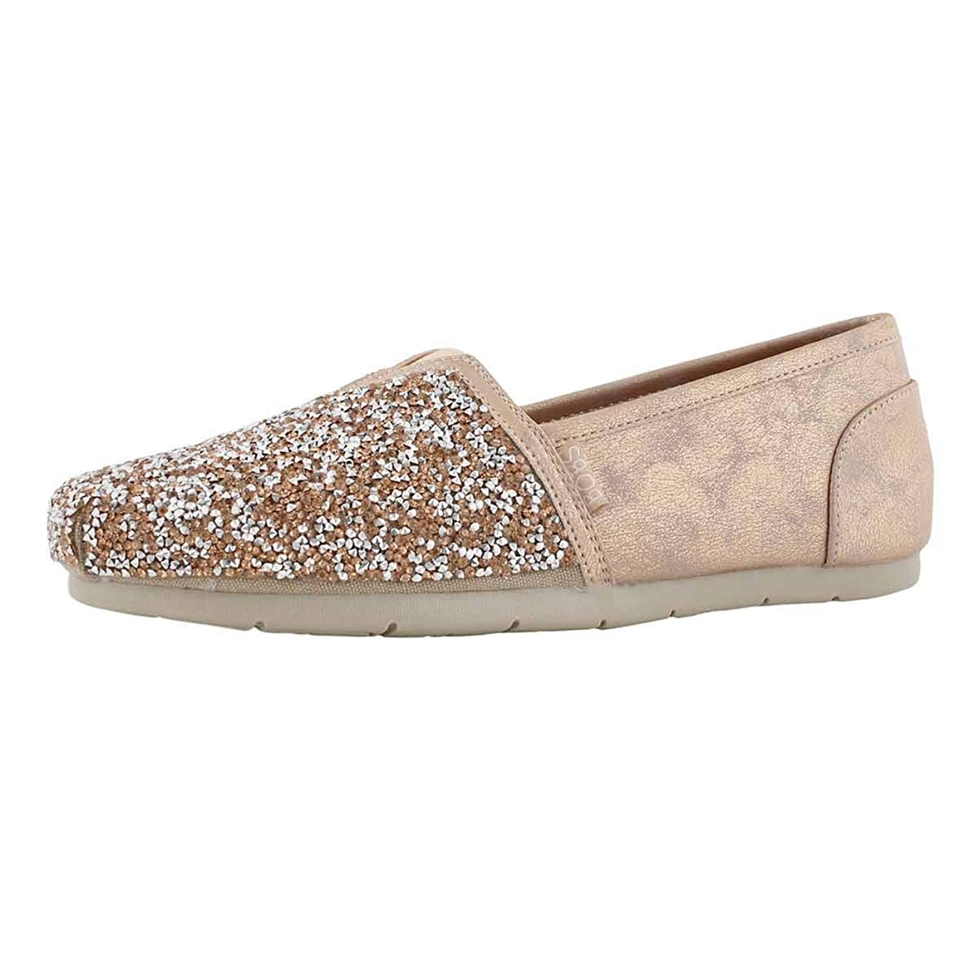 だらしないうがいサージ[ボブス スケッチャーズ] レディース 女性用 シューズ 靴 フラット Luxe Bobs - Rose Gold [並行輸入品]