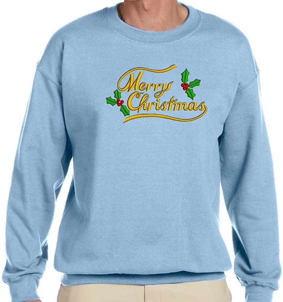 Custom Embroidered Merry Christmas Design on Sweatshirt