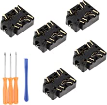 Prettyia 5Pack Replacement 3.5mm Port Headphone Jack Socket with Screwdrivers Repair For Xbox One S Controller