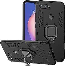 Ferilinso Funda Xiaomi Mi 8 Lite,Elegante Armadura híbrida Robusta Funda de Doble Capa de Alta Resistencia para PC Duro Caso con Anillo Grip Kickstand y Soporte de la función de Montaje (Negro)