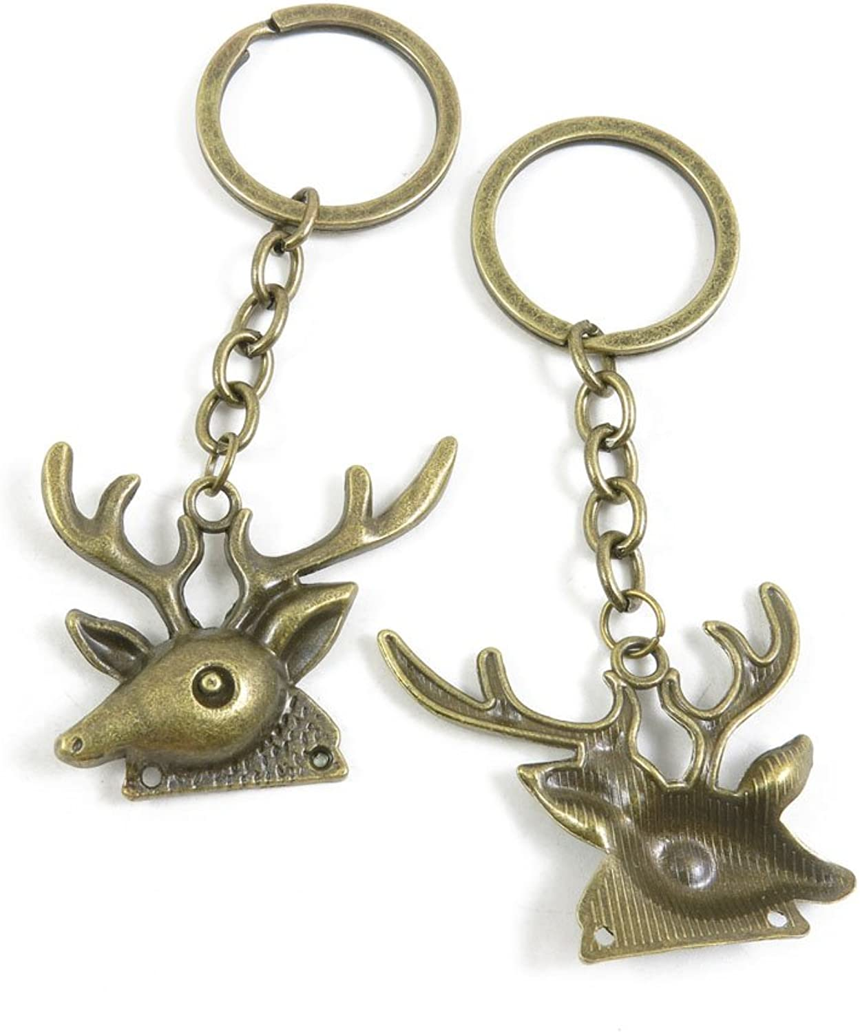 110 Pieces Fashion Jewelry Keyring Keychain Door Car Key Tag Ring Chain Supplier Supply Wholesale Bulk Lots H3CC8 Deer Buck
