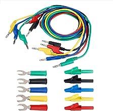 Akozon Banana Plug Kit, 4mm Banana to Banana Plug Test Lead Kit for Multimeter Crocodile Clip & U-type Probe(P1036A)