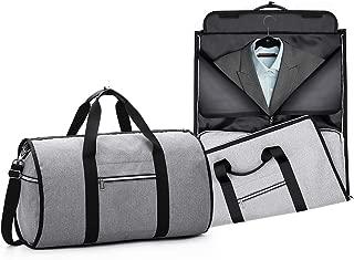Convertible Garment Bag with Shoulder Strap Carry on Duffel Bag for Men Women