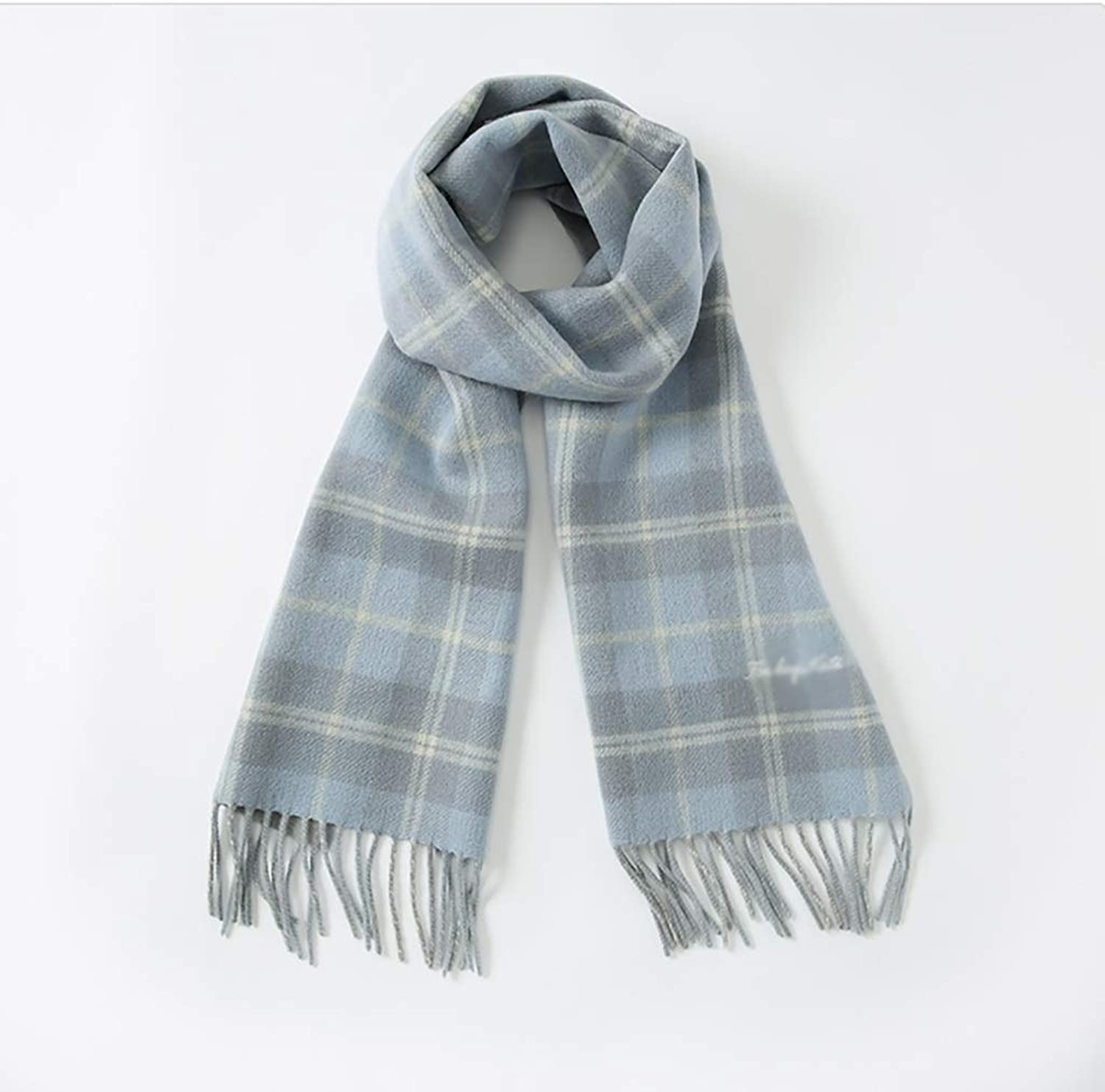 XY Winter Long Soft and Warm Plaid Scarf Ladies Wool Scarf 180X33cm(Two colors Optional) Scarves