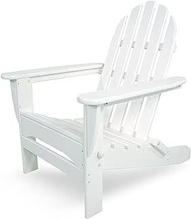 POLYWOOD AD5030WH Classic Folding Adirondack Chair, 35.00