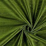 Fabulous Fabrics Dupionseide – grün — Meterware ab