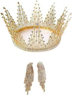 YNYA Tiare Corona Nuziale Fascia Accessori per Capelli da Sposa Accessori per Abiti da Sposa Compleanno Copricapo Corona G...