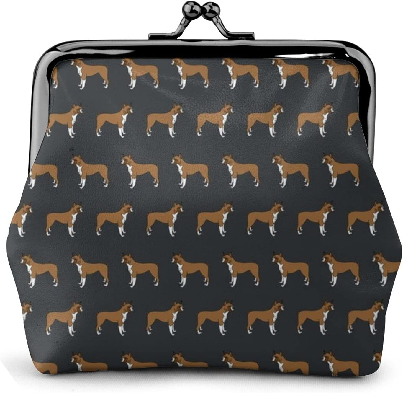 Boxer Boxers Dog 1111 Coin Purse Retro Money Pouch with Kiss-lock Buckle Small Wallet for Women and Girls