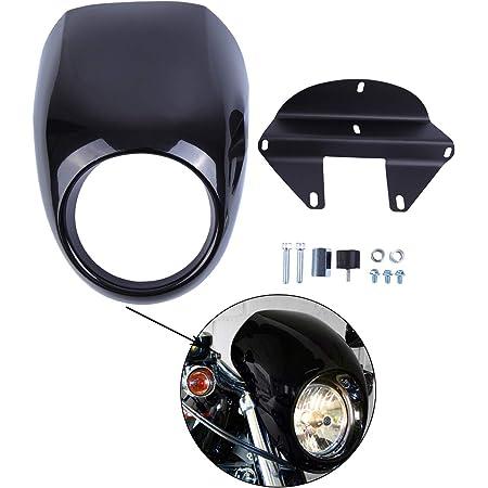 Samger Scheinwerfer Verkleidung Maske Visier Abdeckung Für Harley Sportster Dyna Fx Xl 1973 Up Auto