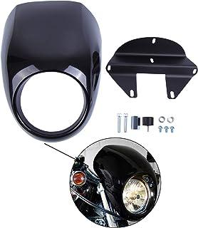 Samger Scheinwerfer Verkleidung Maske Visier Abdeckung für Harley Sportster Dyna FX XL 1973 up