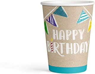Amscan 9904391 250 ml My Birthday Party Paper Cups, Multi-Colour