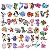 BLOUR Pegatinas de Dibujos Animados de Animales Calientes Starfish Pig Kid Stickers para niñas Estuche de Viaje Bicicleta Laptop Notebook Anime Stickers Set 50pcs