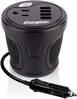 Energizer 150 Watts Power Inverter Plus 48 watts via USB Ports, Modified Sine Wave car Inverter, 12V to 110 Volts, One AC ...
