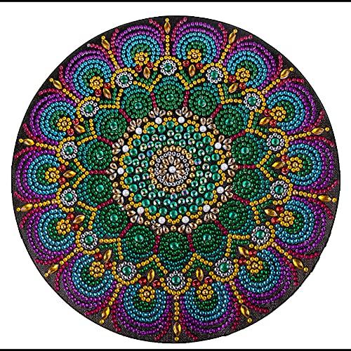 Coolzon Diy 5D Diamond Painting Kit Completo, Pintura Diamante 5d Completo Diamont Paintings Bordado de Punto de Cruz Manualidades para Decoración de Pared, Flor de Datura