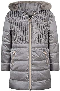 Guess K84l05 - Abrigo para niña, efecto acolchado, color gris plateado