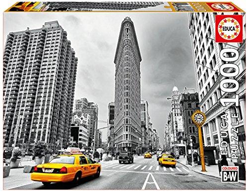 Educa Borrás- Cartoons and Comic 1000 Flatiron Building, New York Colored Black & White, 37.1 x 27.2 x 5.6 (17111)