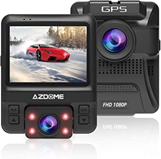 Dash Cam Built-in GPS,AZDOME 2.4 inch 6 LCD 1080P FHD Car Camera DVR Recorder with Sony IMX 323 Sensor 170° Wide Angle, WDR, Night Vision