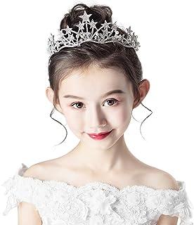 RKY Ragazze Corona, Corona Copricapo Principessa Girl Corona di Cristallo Fascia Bambina Compleanno Esecuzione Pianistica ...