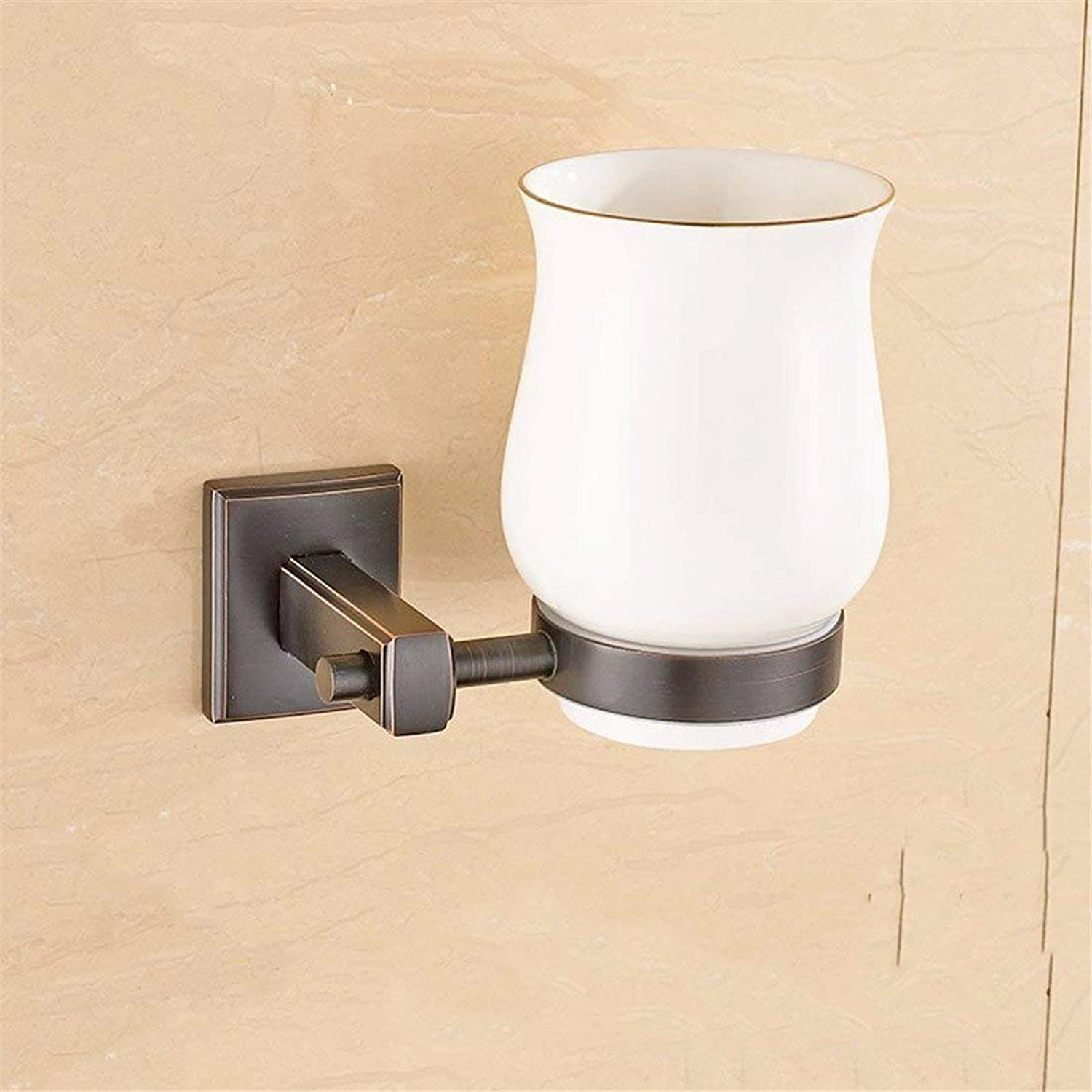 Accessories for Bathroom Simple Black The Whole of Europe Bronze Door Door Copper-soap Hook Paper,Single Cup