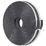 ドアすき間ふさぎ 防音戸当たりテープ フォーム絶縁テープ 緩衝材 スポンジ 発泡ゴム 雨防止 6mm (幅) x 0.15mm (厚さ) x 5m (長さ) x 2本