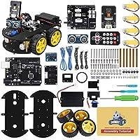 Smart Auto Roboter Bastler Set Kompatibel mit Arduino IDE: Einstieg in Robotik, Programmierung und Elektronik-Aufbau mit diesem genialem MINT Spielzeug Bausatz. Vorteile: Eingebauter IR Fernbedienungssensor, Linienverfolgungsmodule 3in1, Akku mit Sch...