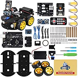 top rated ELEGOO UNOR3 Project Smart Robot Car Kit V3.0 Plus, UNO R3, Line Tracking Module, … 2021