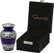 MEMORIALS 4U Mulberry with Silver Band Cremation Urn for Human Ashes - Handcrafted Urn - Affordable Urn for Ashes (Keepsake)