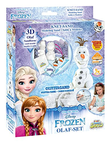 Craze 54209 - Magic Sand Frozen Olaf-Set., ca. 200g mit Glitzer