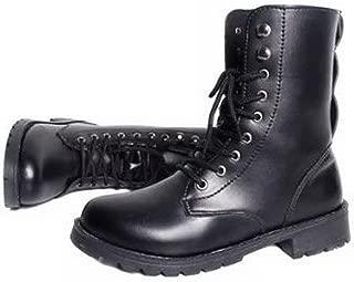[R-Dream] レディース ショート ブーツ レースアップ 編み上げ 靴紐 ローヒール ブラック 大きいサイズも