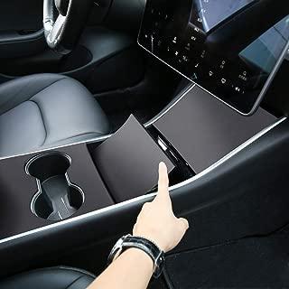 Motrobe Tesla Model 3 Artificial Leather Center Console Wrap Sticker-Matte Black