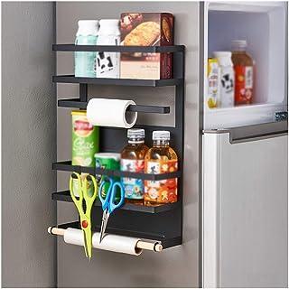 Organisateur de Rangement Cuisine réfrigérateur Organisateur magnétique Porte-Serviettes en Papier antirouille bocaux à ép...