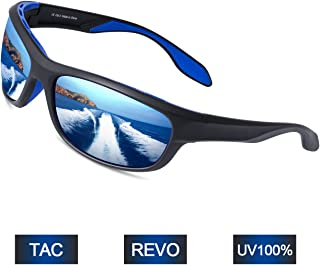 4551dbe0ac Elegear Gafas de Sol Hombre Polarizadas Gafas Deportivas Súper Ligero y  Cómodo Anti UVA UV Marco