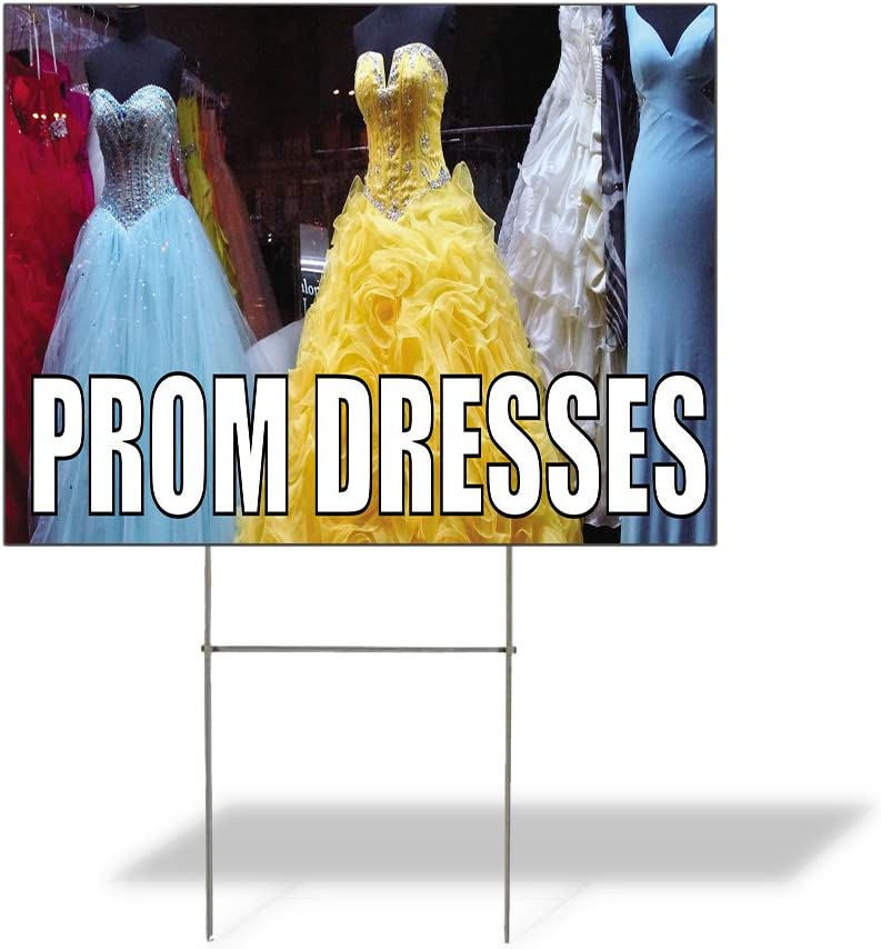 Fastasticdeals Trust Weatherproof Yard Sign Dresses Outdoor Prom Directly managed store Adver